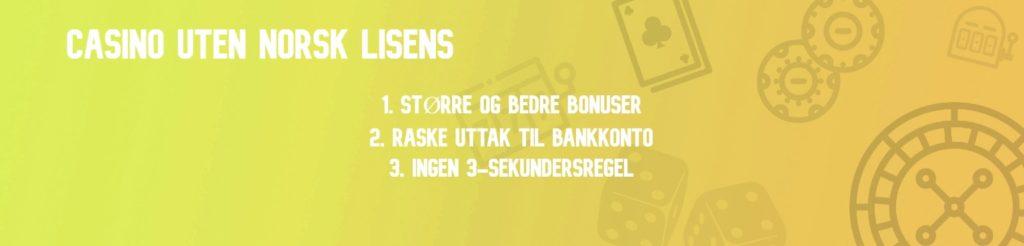 casino uten norsk licens